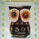Wooden Black owl calendar $18.99 #B