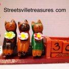 Wooden Bali cat calendar $18.99 #CatBT