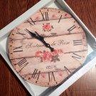 """Senteurs de Rose"" clock $29.99 #03103"