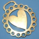 VINTAGE ENGLISH 'HEART' HORSE BRASS