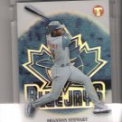 2002 TOPPS PRISTINE SHANNON STEWART BLUE JAYS UNCIRCULATED REFRACTOR CARD