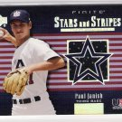 2003 UD FINITE STARS & STRIPES PAUL JANISH USA JERSEY CARD