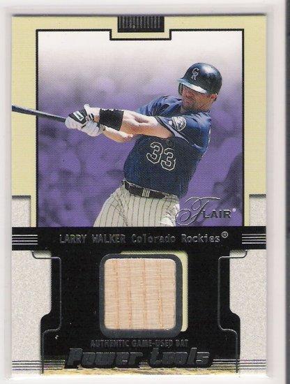 2002 FLEER FLAIR LARRY WALKER ROCKIES GAME-USED BAT CARD