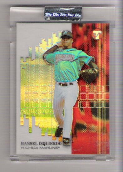 2002 TOPPS PRISTINE HANSEL IZQUIERDO MARLINS UNCIRCULATED REFRACTOR CARD