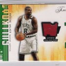 2001-02 FLEER FLAIR COURTING GREATNESS ANTOINE WALKER CELTICS GAME-USED COURT CARD