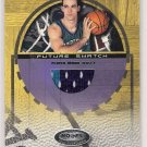 2001-02 HOOPS HOT PROSPECTS KIRK HASTON HORNETS FUTURE SWATCH GAME-WORN JERSEY CARD