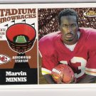 2001 TOPPS FINEST STADIUM THROWBACKS MARVIN MINNIS CHIEFS ARROWHEAD SEAT CARD