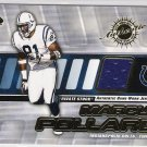 2001 PACIFIC PRIVATE STOCK MARCUS POLLARD COLTS GAME-WORN JERSEY CARD