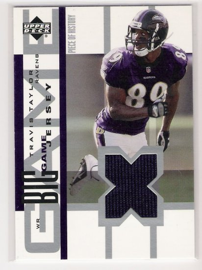 2002 UD TRAVIS TAYLOR RAVENS BIG GAME JERSEY CARD