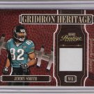 2005 PLAYOFF PRESTIGE JIMMY SMITH JAGUARS GRIDIRON HERITAGE GAME-WORN JERSEY CARD