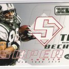 2002 UD XL ANTHONY BECHT JETS SUPER SWATCH JERSEY CARD