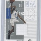 2002-03 UD SP GAME USED DARRELL ARMSTRONG MAGIC GAME-USED JERSEY CARD