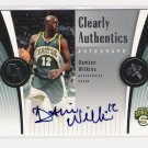 2006-07 EX CLEARLY AUTHENTICS DAMIEN WILKINS SUPERSONCS AUTOGRAPHED CARD