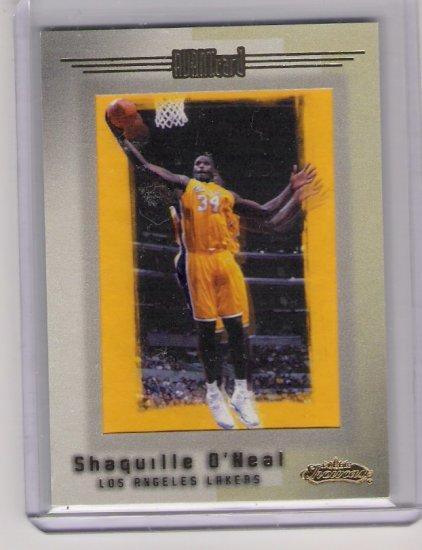 2001-02 FLEER SHOWCASE SHAQUILLE O'NEAL AVANTCARD CARD