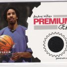 2002-03 FLEER PREMIUM GEAR ANDRE MILLER CLIPPERS GAME WORN WARM UPS CARD