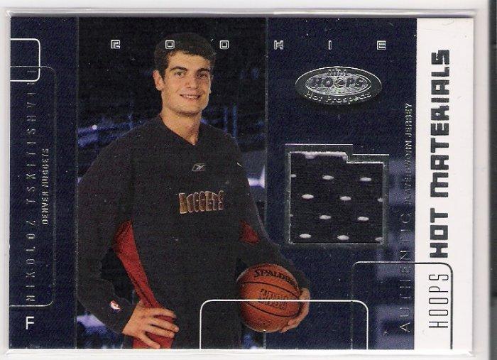 2002-03 HOOPS HOT MATERIALS NIKOLOZ TSKITISHVILI NUGGETS JERSEY CARD