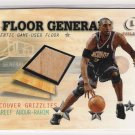 2000-01 FLEER LEGACY FLOOR GENERALS SHAREEF ABDUR-RAHIM GRIZZLIES GAME-USED FLOOR CARD