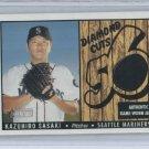 2003 BOWMAN HERITAGE DIAMOND CUTS KAZUHIRO SASAKI MARINERS GAME-WORN JERSEY CARD