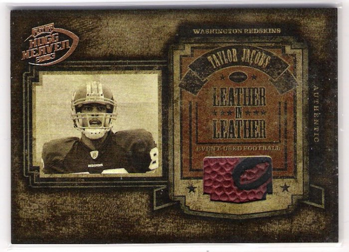 2003 PLAYOFF HOGG HEAVEN LEATHER IN LEATHER TAYLOR JACOBS REDSKINS EVENT USED FOOTBALL