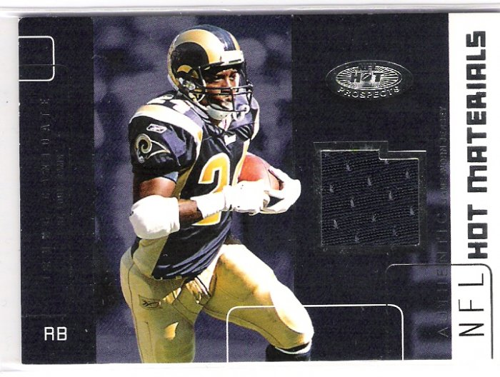 2002 FLEER HOT PROSPECTS TRUNG CANDIDATE RAMS HOT MATERIALS GAME WORN JERSEY CARD