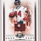 2006 DONRUSS THREADS ERIC MOULDS TEXANS GAME-USED FOOTBAL CARD