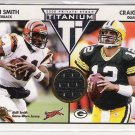 2002 PACIFIC PRIVATE STOCK TITANIUM AKILI SMITH BENGALS GAME-WORN JERSEY CARD
