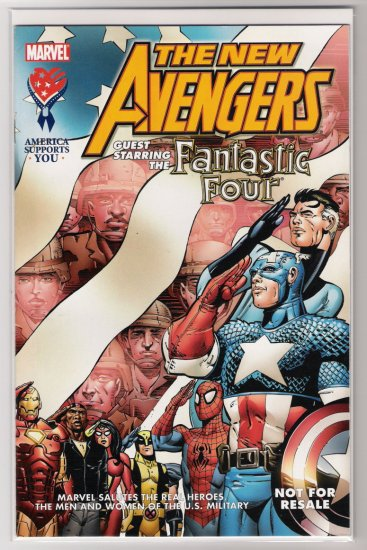 THE NEW AVENGERS/FANTASTIC FOUR MILITARY GIVEAWAY #1 HTF-NEVER READ!