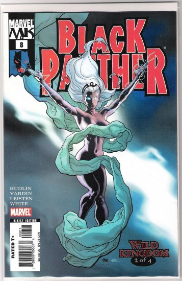BLACK PANTHER #8 1ST PRINT FRANK CHO STORM SEMI-NUDE COVER-NEVER READ!