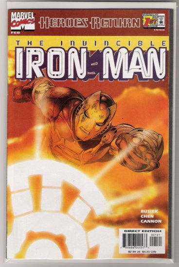 IRON MAN #1 SUNBURST VARIANT COVER-NEVER READ!