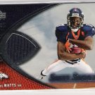 2004 UD SWEET SPOT DARIUS WATTS BRONCOS SWEET SWATCHES JERSEY CARD