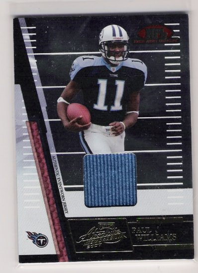 2007 PLAYOFF ABSOLUTE ROOKIE JERSEY COLLECTION PAUL WILLIAMS TITANS JERSEY CARD