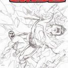 INFINITE CRISIS #5 2ND PRINT SKETCH COVER-NEVER READ!