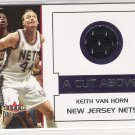 2002-03 FLEER PREMIUM KEITH VAN HORN NETS A CUT ABOVE GAME-WORN JERSEY CARD