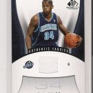 2006-07 SP GAME USED EDITION C.J. MILES JAZZ GAME USED CARD