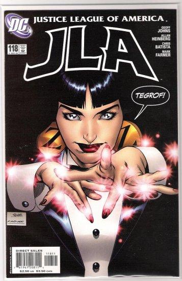 JLA #118 GEOFF JOHNS-NEVER READ!