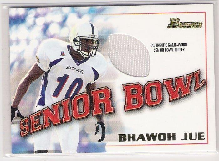 2001 BOWMAN SENIOR BOWL BHAWOH JUE SENIOR BOWL JERSEY CARD