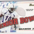 2001 BOWMAN SENIOR BOWL BHAWOH JUE SENIOR BOWL JERSEY CARD