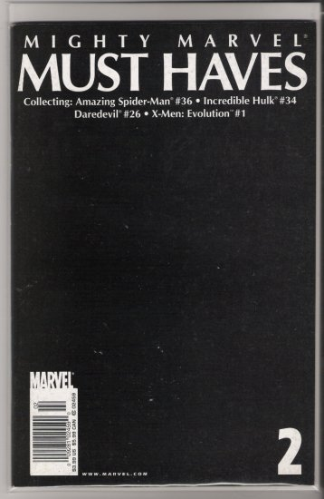 MIGHTY MARVEL MUST HAVES #2-NEVER READ!