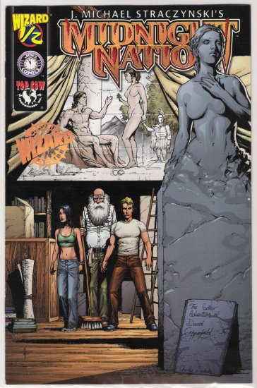 WIZARD/TOP COW MIDNIGHT NATION 1/2 GOLD EDITION W/COA-NEVER READ!