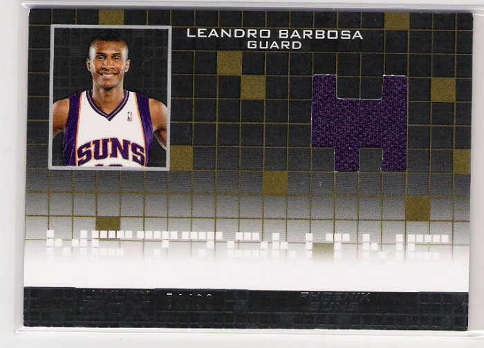 2007-08 TOPPS LUXURY BOX LEANDRO BARBOSA SUNS MEZZANINE RELIC JERSEY CARD #'D 74/99!