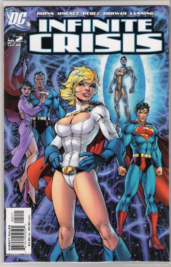 INFINITE CRISIS #2 JIM LEE COVER-NEVER READ!