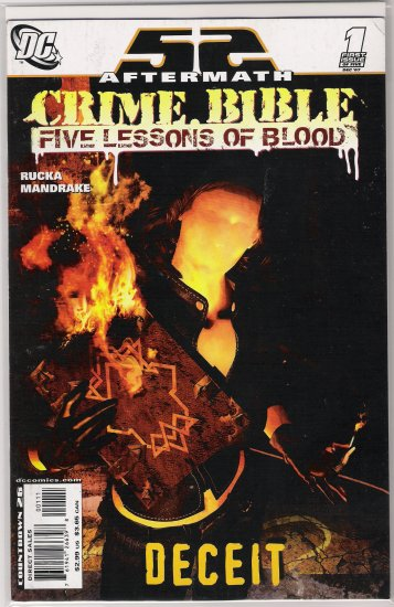 CRIME BIBLE FIVE LESSONS OF BLOOD #1 (2007)-NEVER READ!