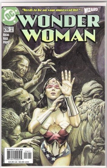 WONDER WOMAN #216 (2005) RAGS MORALES-NEVER READ!