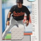2002 LEAF CERTIFIED ED ROGERS ORIOLES NEW GENERATION ROOKIE JERSEY CARD