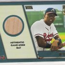 2001 TOPPS TRADED WILSON BETEMIT BRAVES ROOKIE RELIC BAT CARD