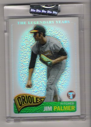 2005 TOPPS PRISTINE THE LEGENDARY YEARS JIM PALMER ORIOLES UNCIRCULATED REFRACTOR CARD