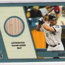 2001 TOPPS TRADED AND ROOKIES ROYCE CLAYTON WHITE SOX GAME-USED BAT CARD