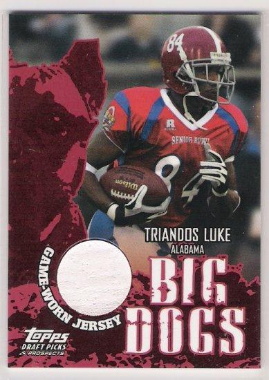 2004 TOPPS DRAFT PICKS & PROSPECTS TRIANDOS LUKE ALABAMA BIG DOGS JERSEY CARD