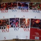 CIVIL WAR LOT 1,2,3,4,5,6,7 COMPLETE WITH OPENING SHOT SKETCHBOOK 1ST PRINTS-NEVER READ!