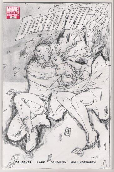 DAREDEVIL #89 RRP SKETCH VARIANT BRUBAKER-NEVER READ!